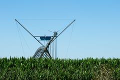 Grand système d'irrigation latéral de mouvement photo libre de droits