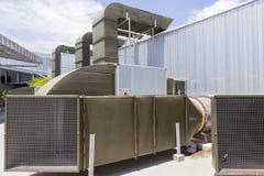 Grand système de ventilation d'air de supermarché Image libre de droits