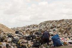 Grand tas de déchets Images libres de droits