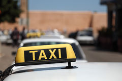 Grand Taxis in Morocco Stock Images