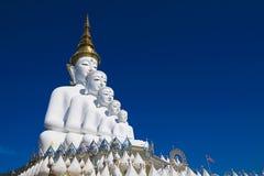 Grand temple blanc de religion de statue de Bouddha Photo libre de droits