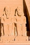 Grand temple d'Abu Simbel - l'Egypte photo libre de droits