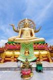 Grand temple de Bouddha chez Koh Samui Image libre de droits