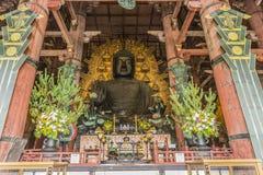 Grand temple Nara Japan de Dai-JI de  de Bouddha TÅ photographie stock