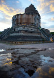 Grand temple with a ruin pagoda Royalty Free Stock Image