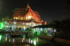 Grand temple of wat Bua Kwan on Magha Puja Day Royalty Free Stock Photo