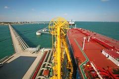 Grand terminal de pétrole brut Image stock
