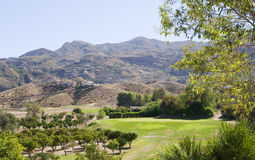 Grand terrain de golf de Cortijo près de Mojacar Photos libres de droits
