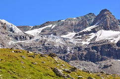 Grand Tete de By et glacier de Sonadon Photos stock