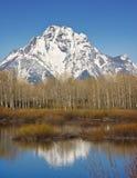 Grand Teton. Montain range in Wyoming Royalty Free Stock Image