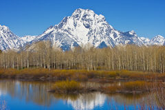 Grand Teton. Mountain range in Wyoming Royalty Free Stock Photo