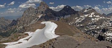 Grand Teton. The summits of the Tetons in the Grand Teton range. Glacier national park. USA stock image