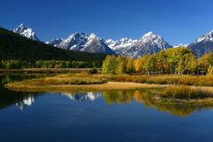 Grand Teton. Mountains in Autumn Stock Photos