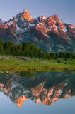 Grand Teton. View of Grand Teton from Snake River, Grand Teton National Park, Wyoming royalty free stock photo