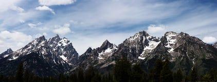 Grand Teton. National Park panorama Stock Images