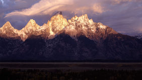 Grand Teton. Wyoming, Sunrise Royalty Free Stock Images