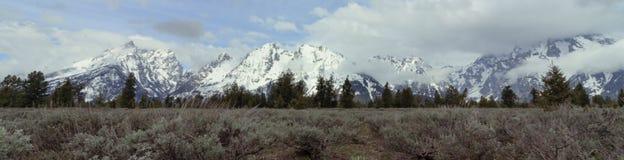Grand Teton Banner stock image