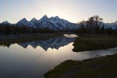 Grand Teton at dusk Royalty Free Stock Photography