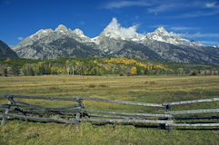 Grand Teton after First Snow Stock Image