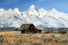 Grand Teton iconic barn. Iconic barn in grand teton national park Royalty Free Stock Image