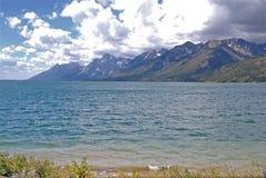 Grand Teton Jenny Lake. With mountain range in the back stock photos