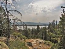 Grand Teton Jenny Lake. A view of Jenny Lake in Grand Tetons National Park from Inspiration Point Stock Photos