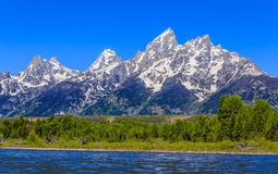 Grand Teton Mountain Landscape Royalty Free Stock Images