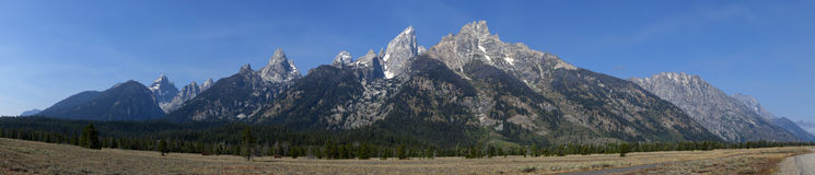 Grand Teton Mountain (panoramic) Royalty Free Stock Image