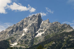 Grand Teton Mountain Peak Royalty Free Stock Photo