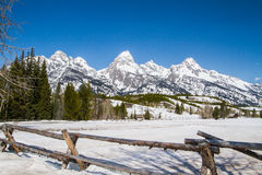 Grand Teton Mountain Range Stock Photo