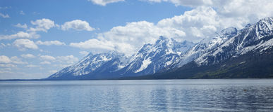 Grand Teton mountain range viewed above Lewis Lake Royalty Free Stock Images