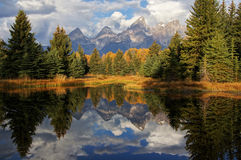 Grand Teton Mountains in Autumn Stock Images