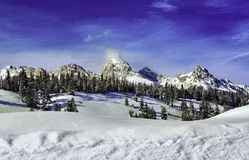 The Grand Teton Mountains are a beautiful range to view from Jackson Hole, Wyoming stock photo