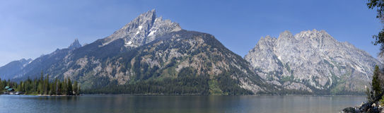 Grand Teton Mountains & Lake Jenny Stock Photography