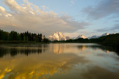 Grand Teton Mountains Reflection Royalty Free Stock Image