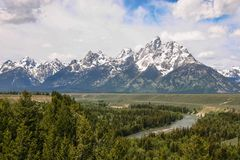 The Grand Teton mountains in Western United States. royalty free stock photos