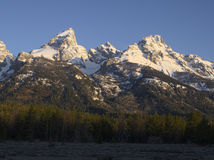 Grand Teton, Mt. Owen, and Teewinot Mountain Royalty Free Stock Images