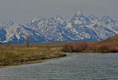 Grand Teton Nat'l Park. Kelly warm springs with view of the Tetons Stock Images