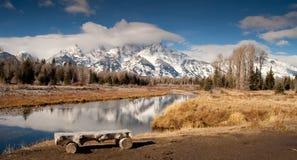 Grand Teton National Park Snake River Reflection Royalty Free Stock Photography