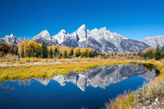 Grand Teton National Park in autumn Royalty Free Stock Photography