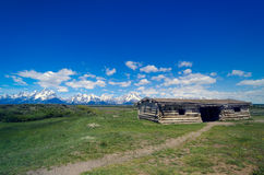 Grand Teton National Park Historic Cabins Royalty Free Stock Photos