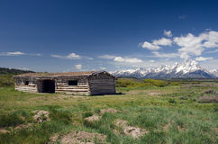 Grand Teton National Park Historic Cabins Royalty Free Stock Images