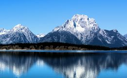 Grand Teton National Park just south of Yellowstone National Park Beautiful Mountains. Grand Teton National Park just south of Yellowstone National Park, These royalty free stock images