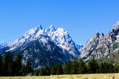 Grand Teton National Park just south of Yellowstone National Park Beautiful Mountains. Grand Teton National Park just south of Yellowstone National Park, These stock photography
