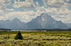Grand Teton National park landscape Royalty Free Stock Image