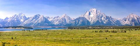Grand Teton national park, mountain range panorama, Wyoming USA. Grand Teton national park, mountain range panorama, Wyoming, USA royalty free stock images