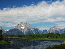 Grand Teton National Park Mountains over Water Stock Images