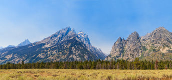 Grand Teton National Park Panorama of Mountain Range Royalty Free Stock Images