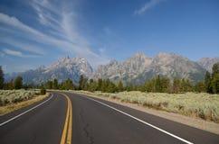 Grand Teton National park road stock photos
