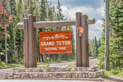 Grand Teton National Park Sign Stock Images